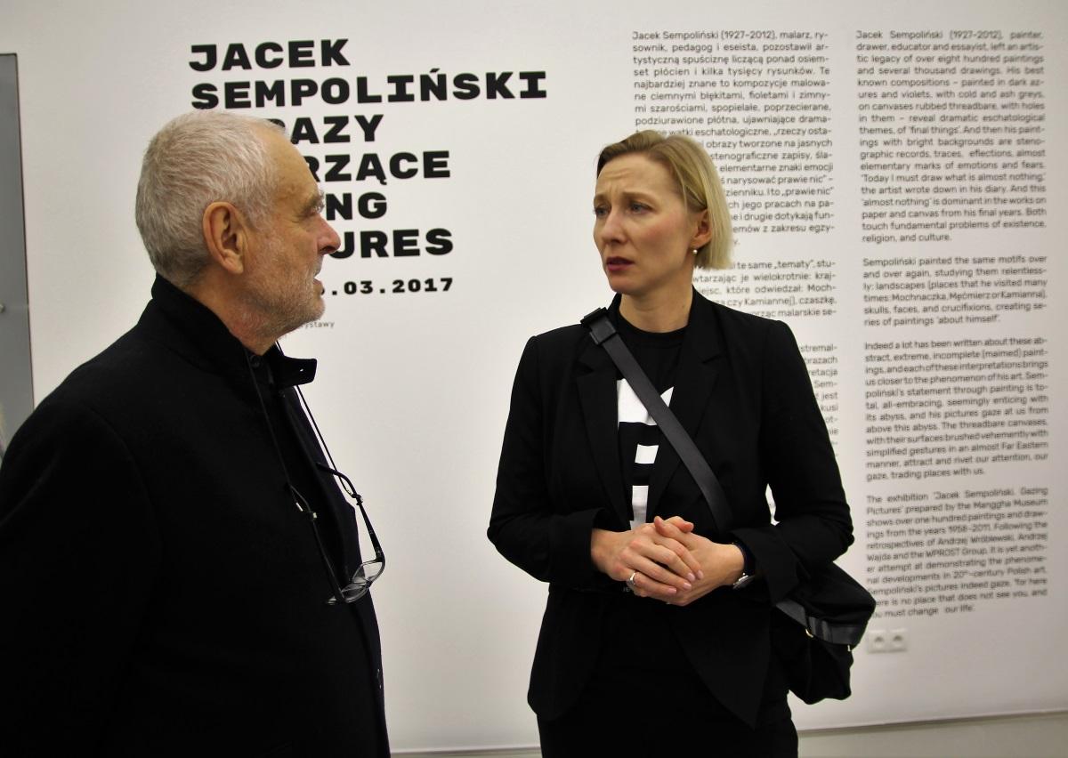 Agnieszka Szewczyk i Janusz Michalik. Jacek Sempoliński. Obrazy patrzące. Muzeum Manggha, styczeń 2017.