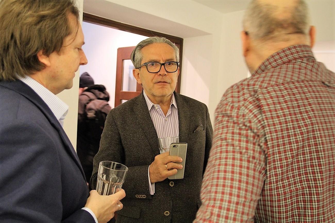 Mec. Piotr Sandecki. Wernisaż wystawy Jacek Sempoliński. Malarstwo, 25 marca 2017 roku.