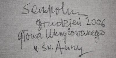 Podpis Jacka Sempolińskiego z obrazu pokazywanego powyżej.
