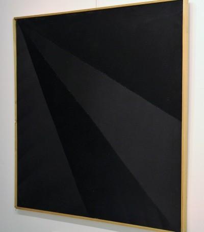 """Obraz z cyklu """"Interwencje"""". Wernisaż wystawy """"Kajetan Sosnowski. Obrazy szyte"""", 7 października 2017 roku."""