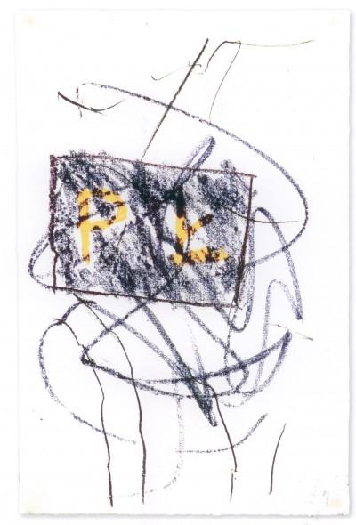 Kamieniołom, wrzesień 2005, pastele olejne, papier, 48x31.