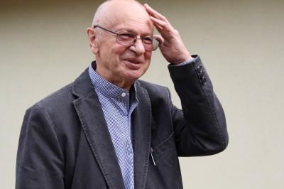 Zbigniew Lutomski w galerii spa spot w Nałęczowie.