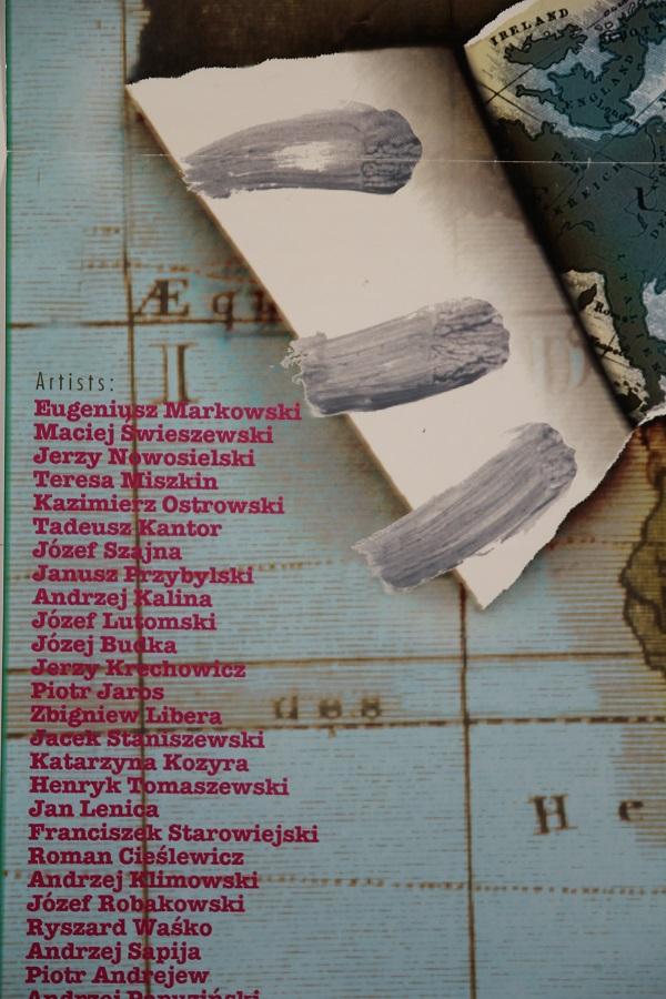 Janusz Przybylski w Pretorii. Znaleziony wśród grafik plakat zapowiadający zbiorową wystawę polskiej sztuki w Pretorii, 1998.