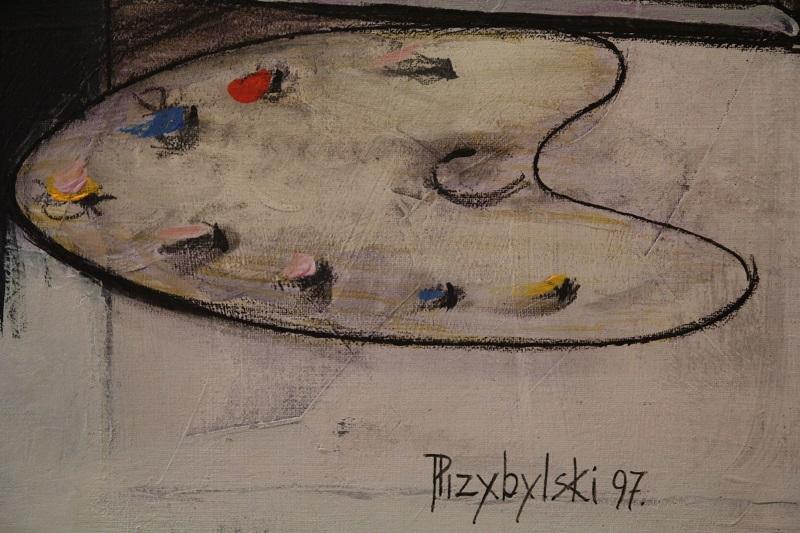 Janusz Przybylski. Upadek malarza. Zaklęty krąg - 8. Fragment obrazu, który pokaże galeria sztuki spa spot w Nałęczowie.
