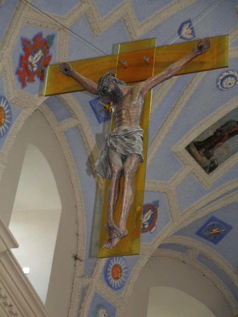 Figura Ukrzyżowanego w Kościele Farnym w Kazimierzu nad Wisłą, która wcześniej znajdowała się we wnęce koło kościoła św. Anny.