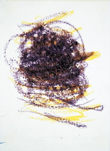 Wisła, wrzesień 2003, pastele olejne, papier, 42x30